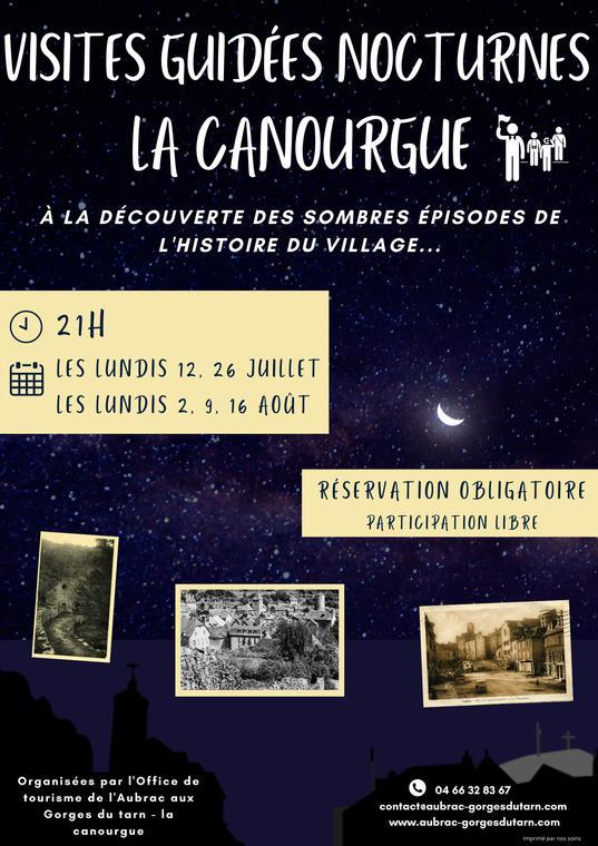 Visites guidées nocturnes La Canourgue 2020