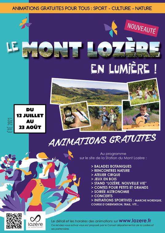 Affiche le Mont-Lozère en lumière
