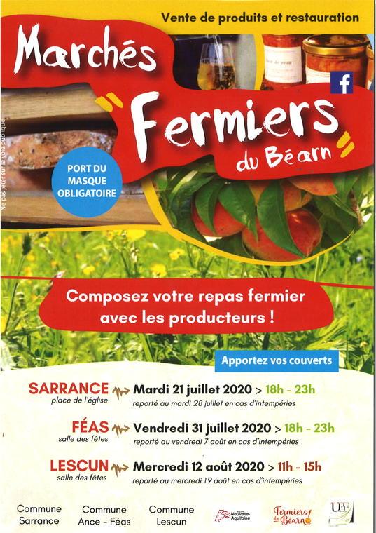 Les marchés fermiers du Béarn