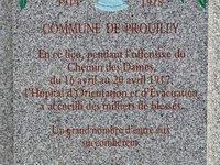 Stèle de l'Hôpital d'Orientation et d'Évacuation - Prouilly