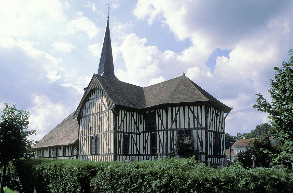 Eglisé à pan de bois d'Outines - Lac du Der