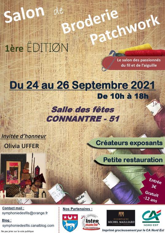 Affiche salon broderie et patchwork 2021