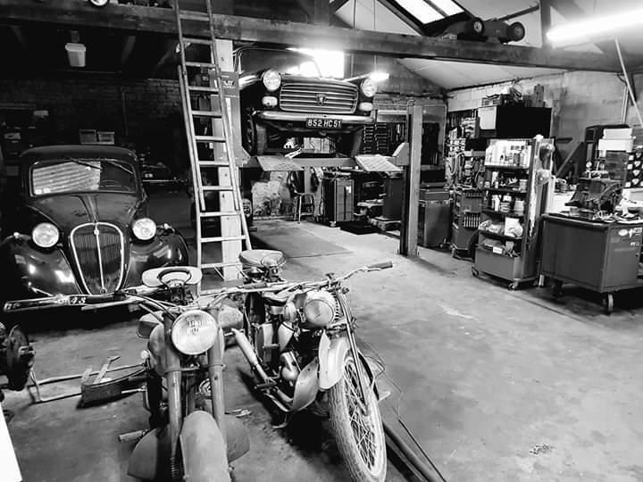 Intérieur du garage de Saint Brice