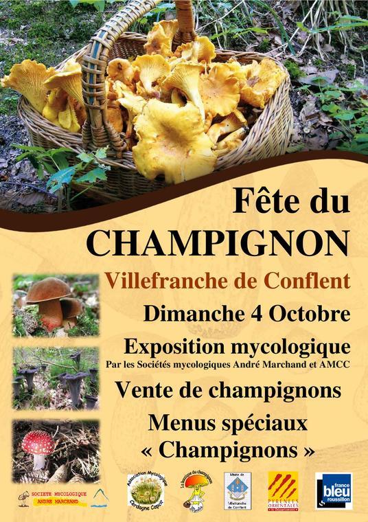 Affiche fête du champignon