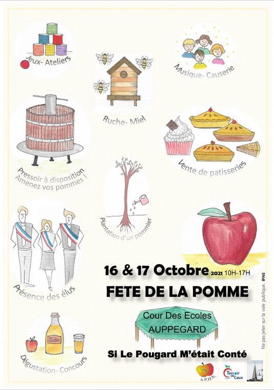 Affiche Fête de la pomme 2021 Auppegard