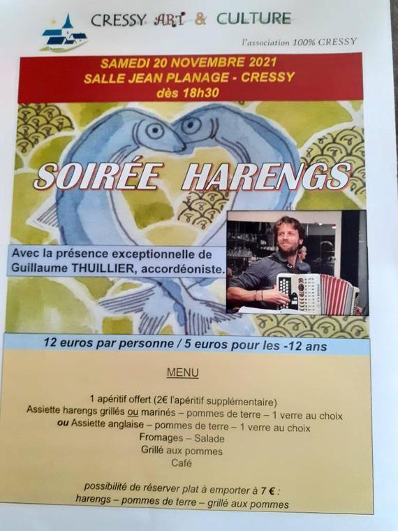Soirée Harengs Cressy 2021