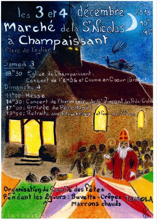 Marché de la saint nicolas - St Cosme en V