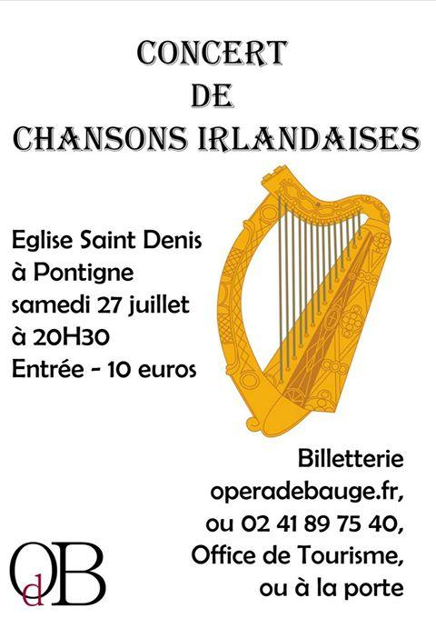 Opéra de Baugé - Concert de chant Irlandais
