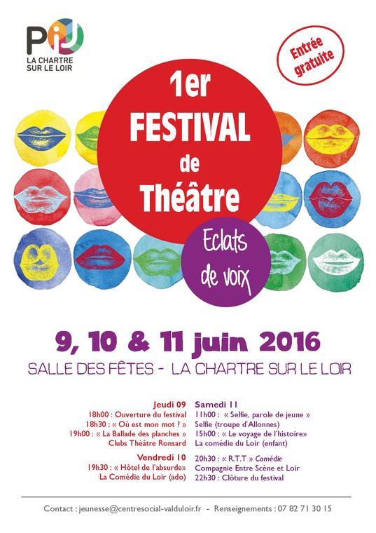 Affiche festival éclats de voix
