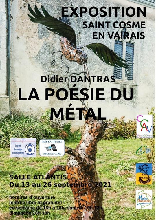 Expo St Cosme la poésie du métal