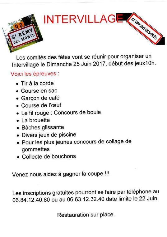 Intervillages st Rémy des Monts St Vincent des P