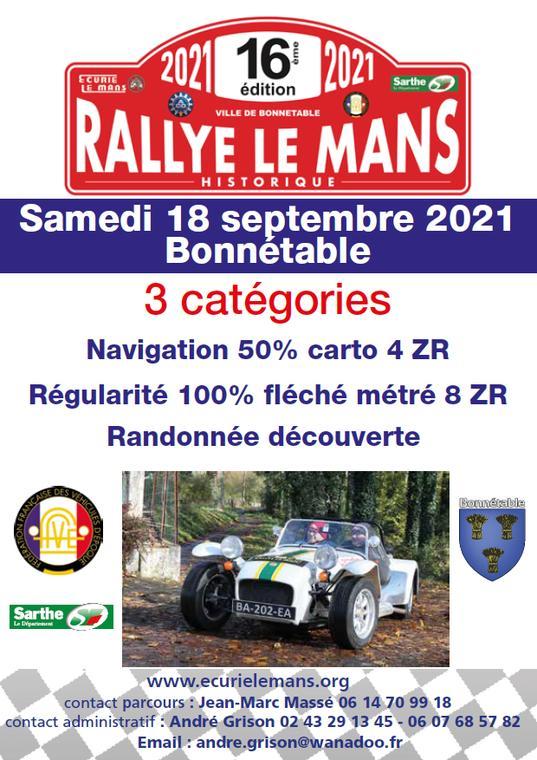 Rallye historique Bonnétable 18 septembre