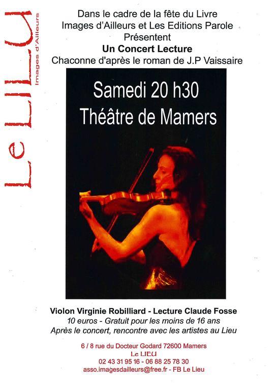 Un concert Lecture Le Lieu