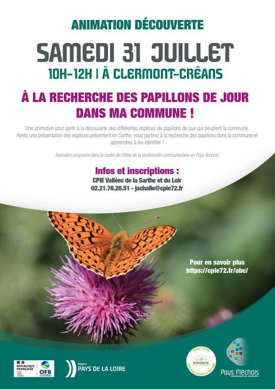 affiche A3-anim papillon de jour-Clermont-Créans-31-07