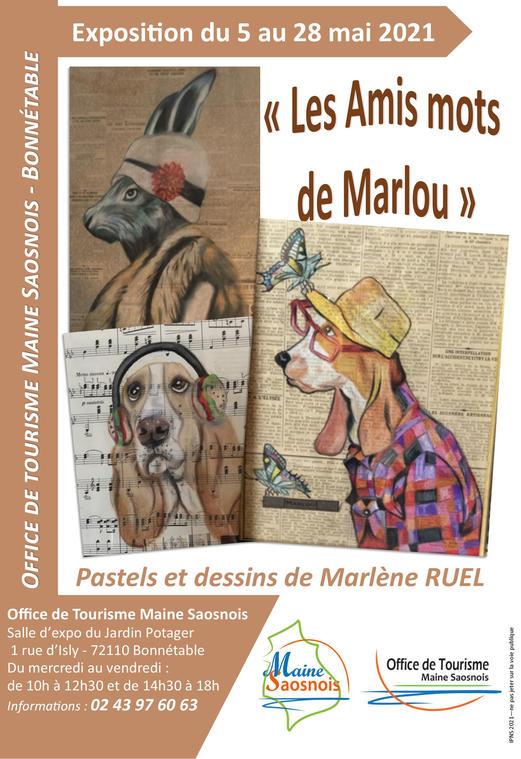 affiche expo Marlène Ruel Bonnétable