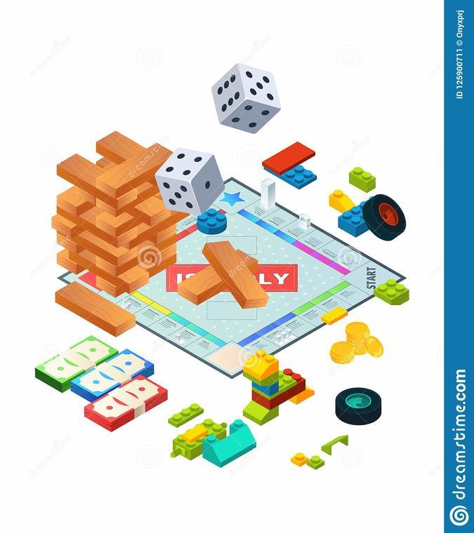composition-de-divers-jeux-conseils-photos-isométriques-fond-des-société-125900711