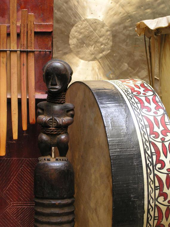 sculptur et tambour