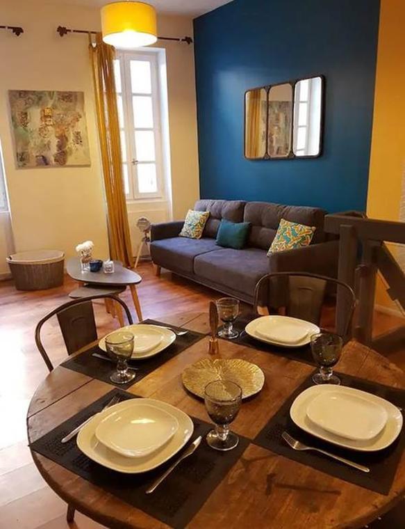 Duplex inversé meublé de tourisme Montauabn