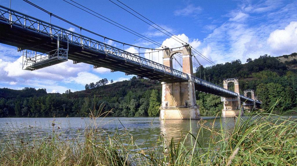 Coucher de soleil sur le pont Coudol