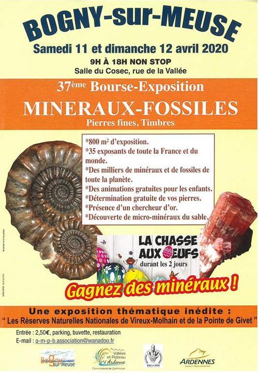 Bourse aux minéraux fossiles 2020