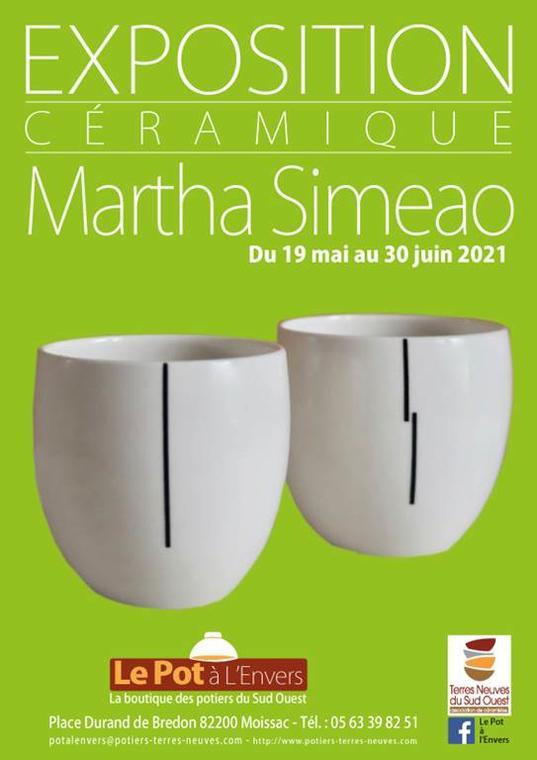 Exposition céramique : MARTHA SIMEAO