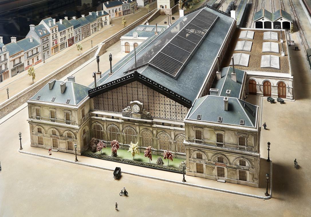Maquette de l'ancienne gare de Saint-Nazaire