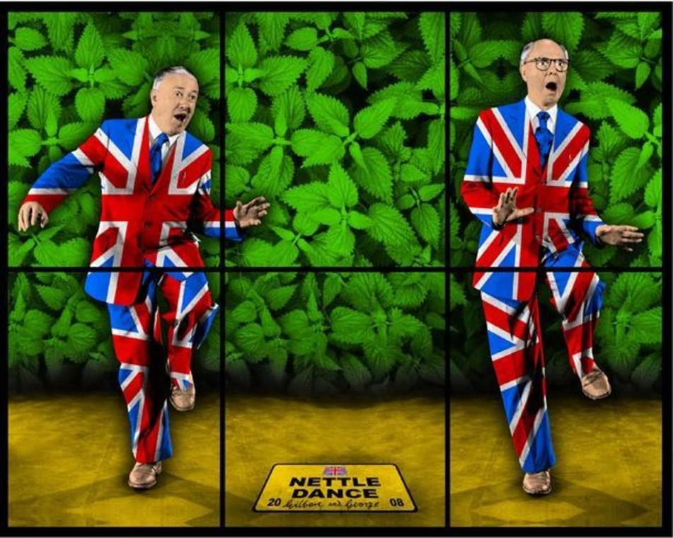 Gilbert & George, Nettle Dance, 2008