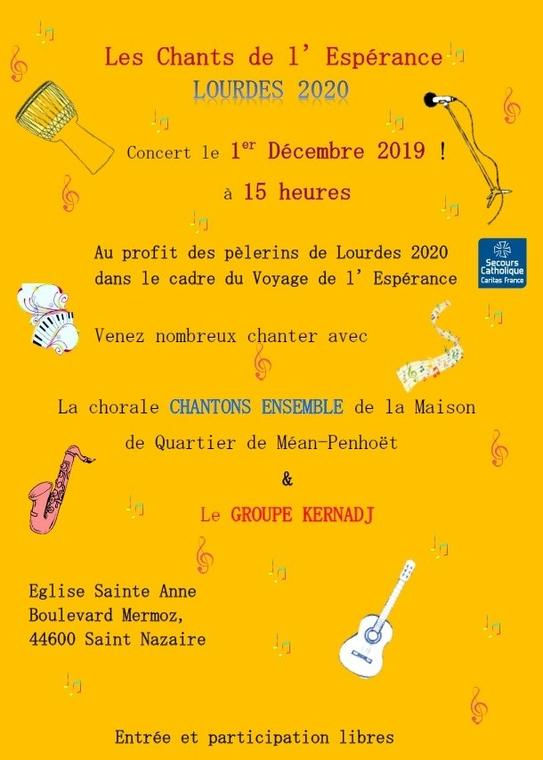 Concert le 1er décembre à l'église Ste Anne
