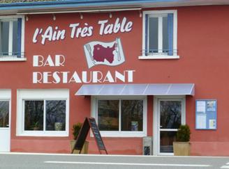 restaurant l'Ain très table