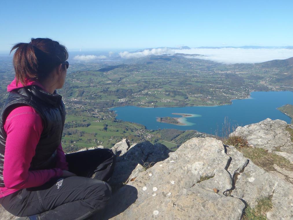 Depuis le Mont Grêle, vue sur le Lac d'Aiguebelette