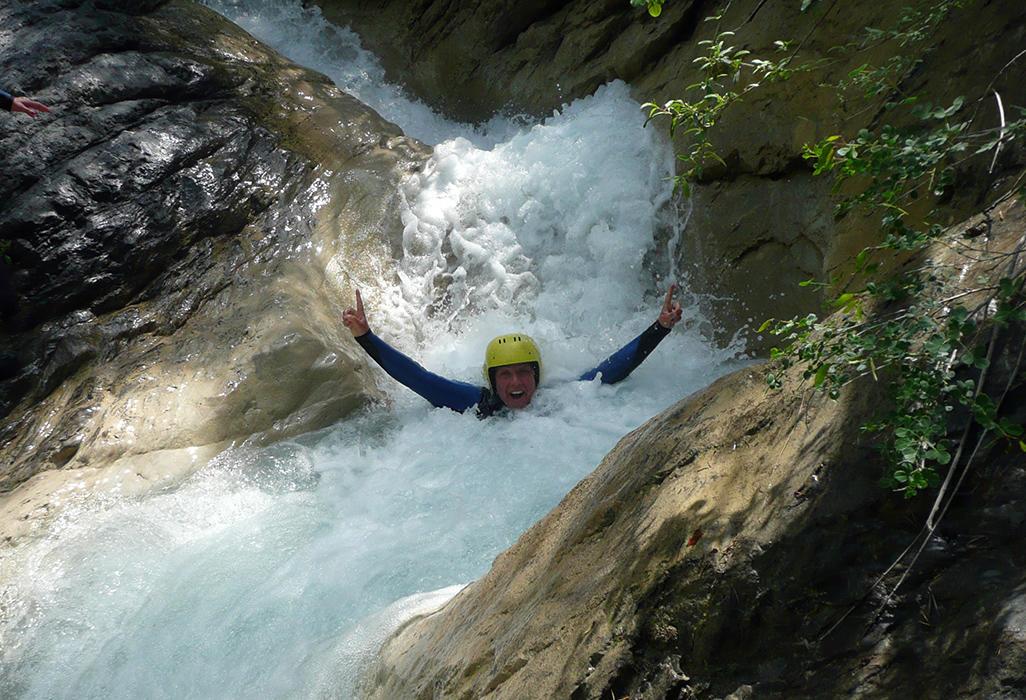 Bureau des guides de l'Ubaye : canyoning