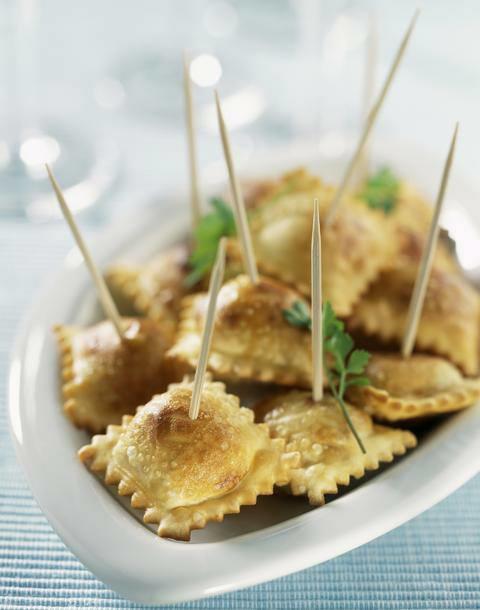 Assiette de raviolis