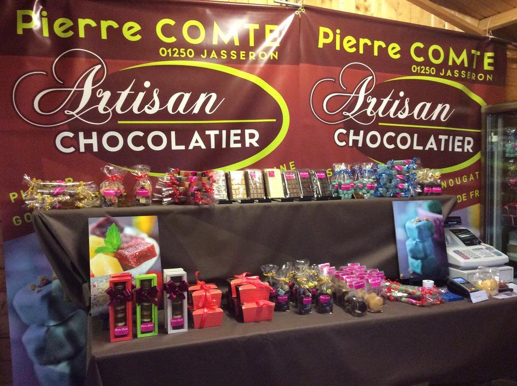 Vitrine de la Chocolaterie Comte Jasseron
