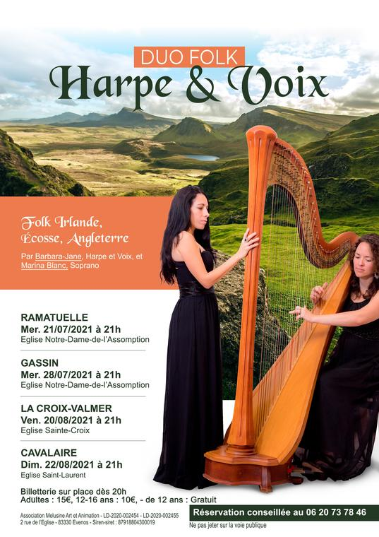 Duo folk Harpe et Voix