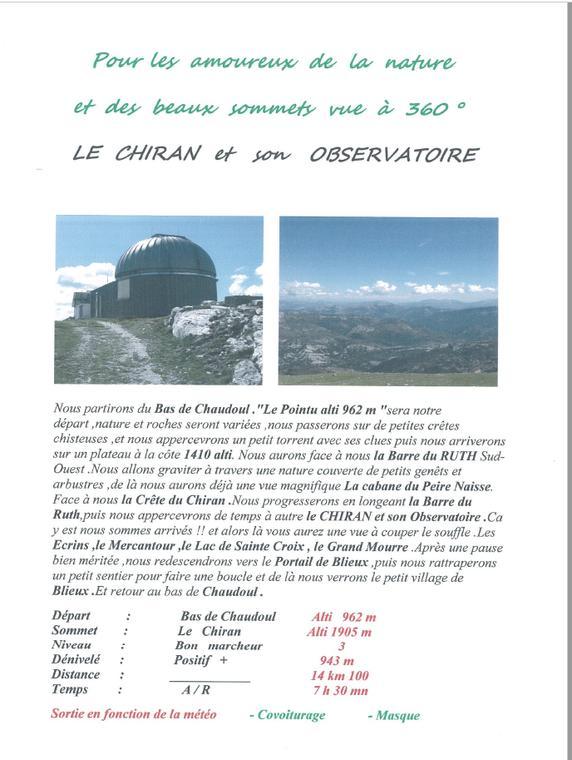 Le Chiran et son Observatoire