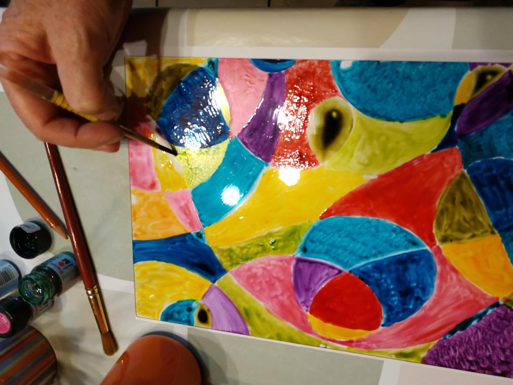 Atelier peinture vitrail