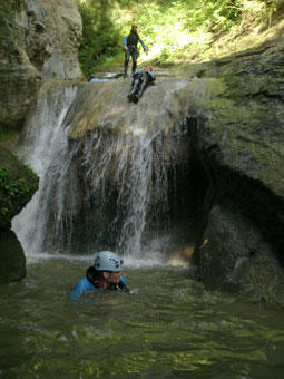 Parcours canyoning - St Franc