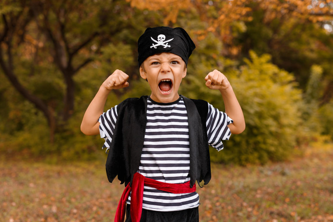 Sortie enfant dans la peau d'un pirate parc de la Méditerranée Six Fours