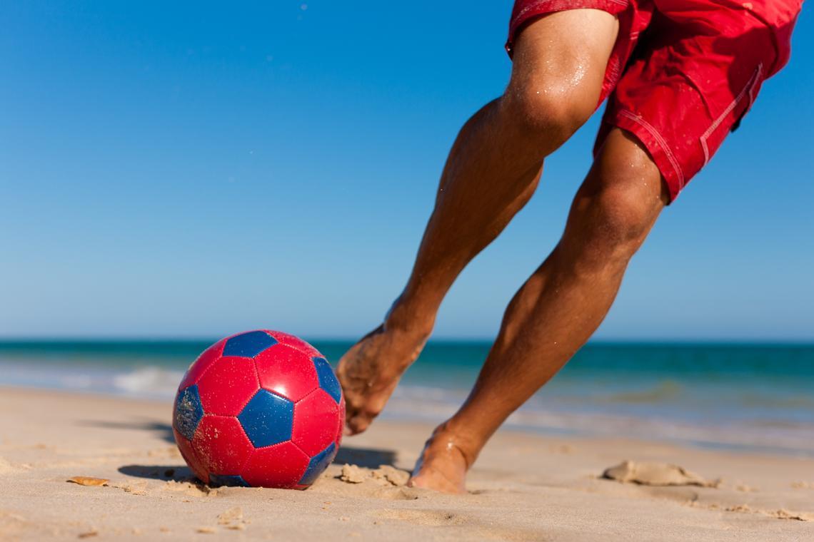 Sport à la plage encadré avec Valérie