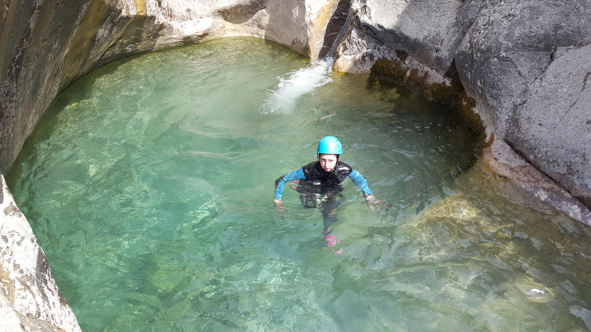 Sortie canyoning avec Actions