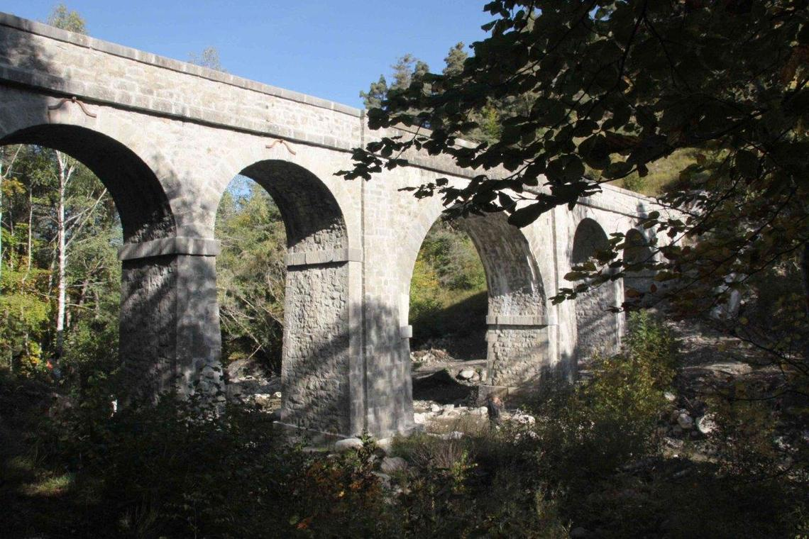Aqueduc des Gorges du torrent d'Ancelle