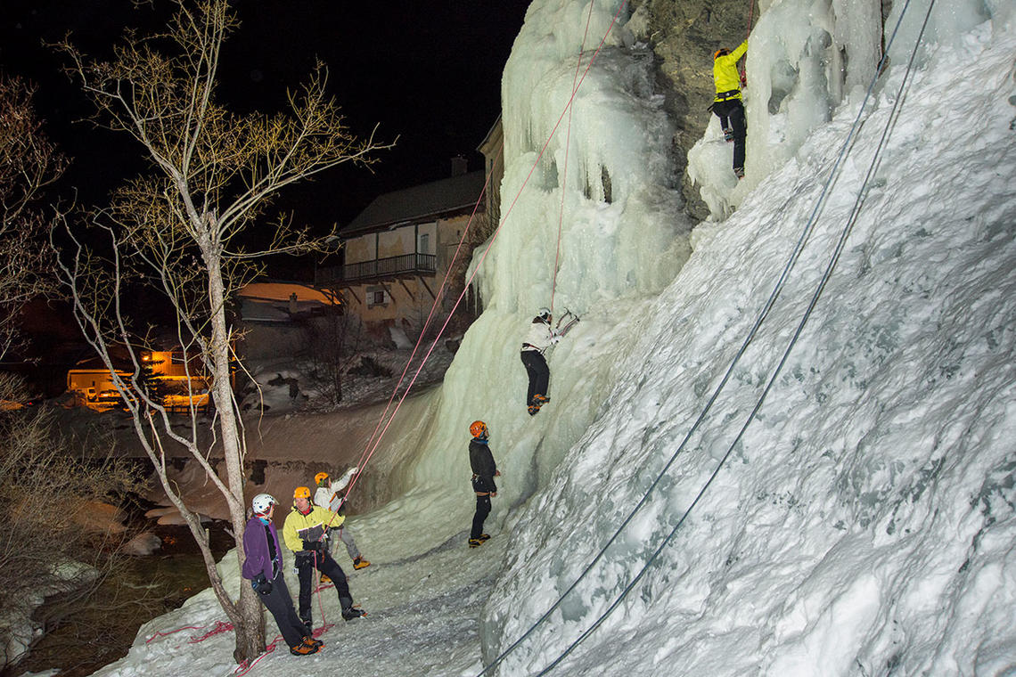 Animation cascade de glace
