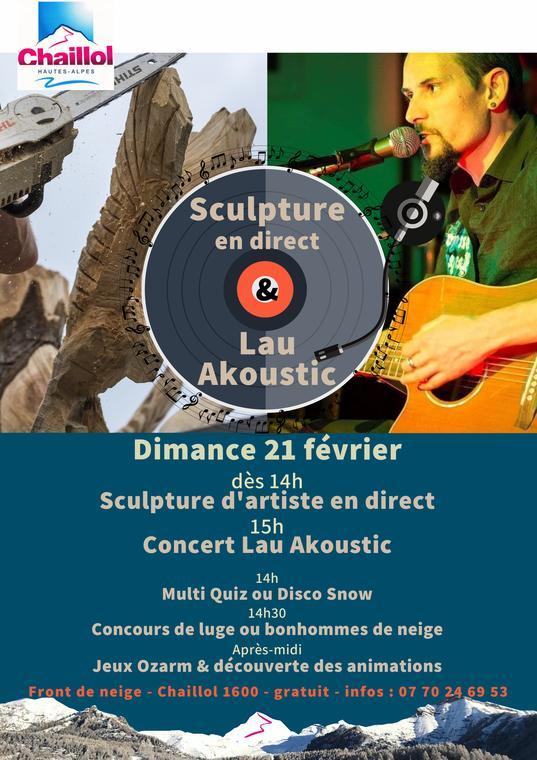 Sculpture en direct & Lau Akoustic