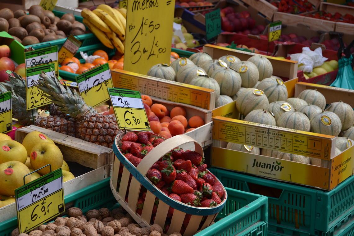 Fruits et légumes au marché