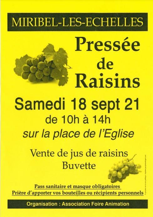 Pressée de raisins