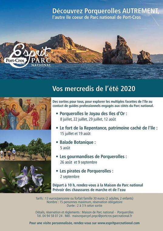 Balades Esprit Parc Porquerolles Parc national