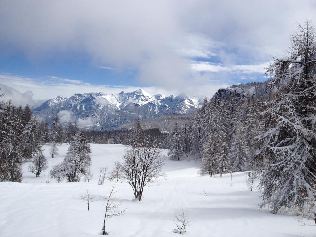 les grands alpages de la cabane du Laus
