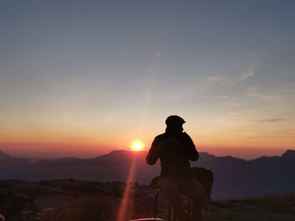 concert nature coucher du soleil