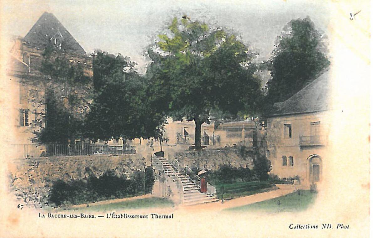 Le château et les thermes de la Bauche
