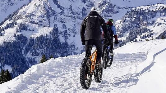 Névache vallée clarée fatbike activité hiver
